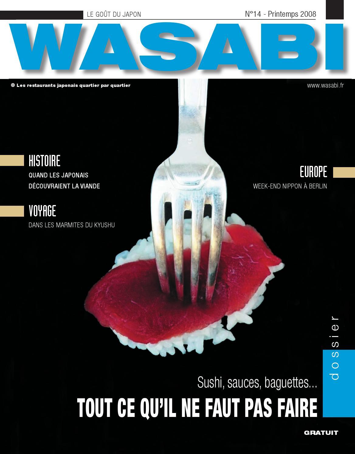 Vita Confort 25 Rue Lecourbe wasabi, le goût du japon n°14wasabi - issuu