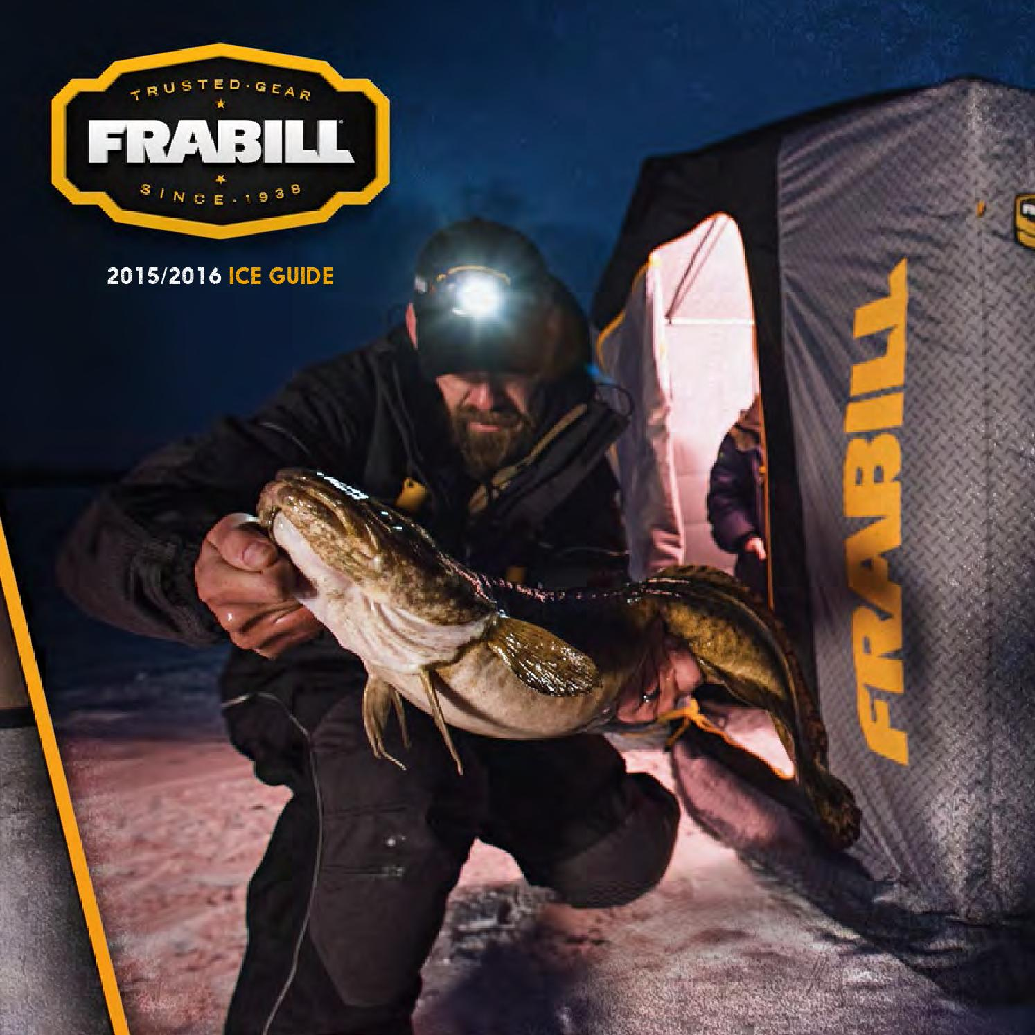 Frabill ice fishing 2016 product guide by planosynergy issuu for Frabill ice fishing