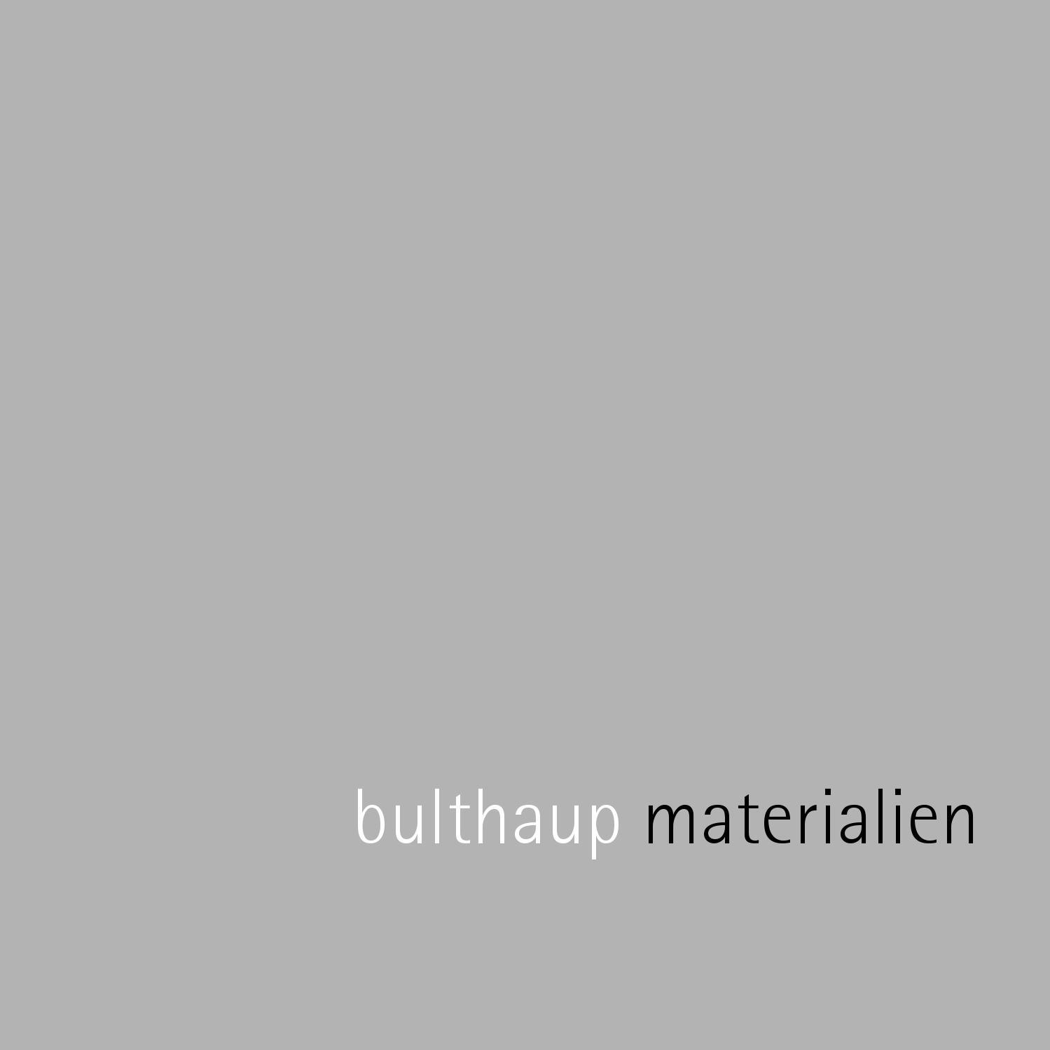 Bulthaup Materialinfobroschure By Allaboutinteriors De Issuu