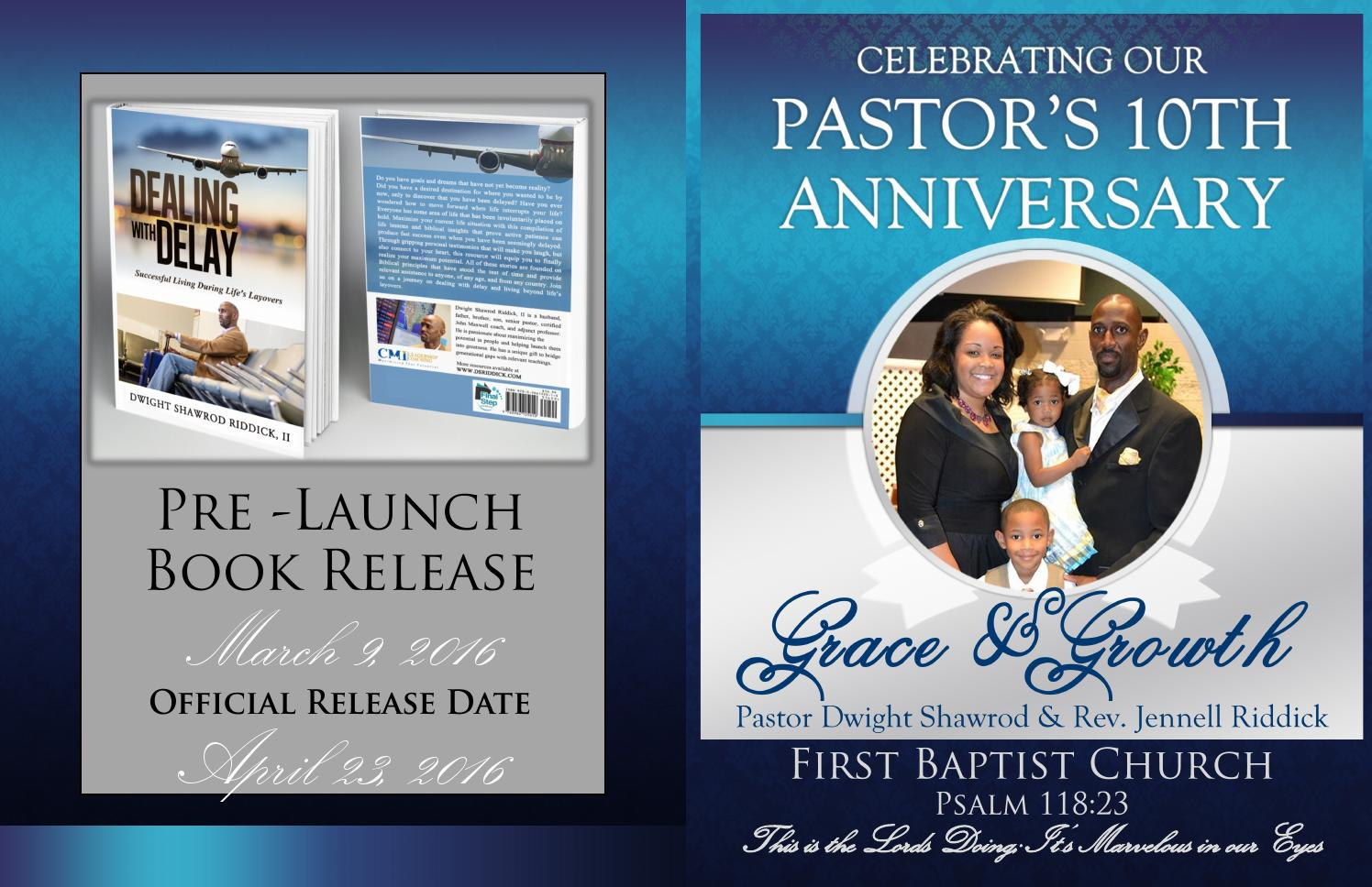 10th pastor s anniversary booklet by first baptist church franklin