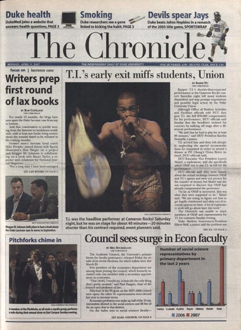 April 9, 2007 by Duke Chronicle Print Archives - issuu