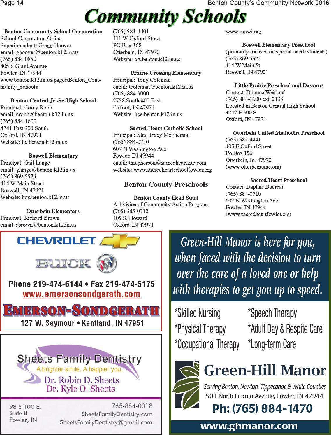 Benton County, Indiana Community Network by Newton County