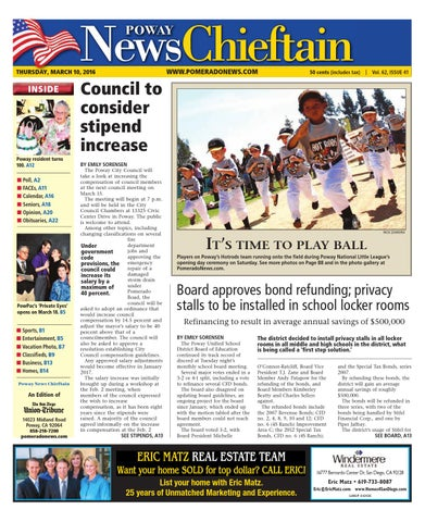Poway news chieftain 03 10 16