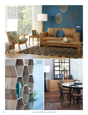 oz designs furniture. GORDON 2.5 Seater Sofa In Natural Leather, CANTINA Coffee And Side Tables Oak, SLING Designer Chair Maharaja Emerald Fabric With Mango Wood Frame, Oz Designs Furniture R