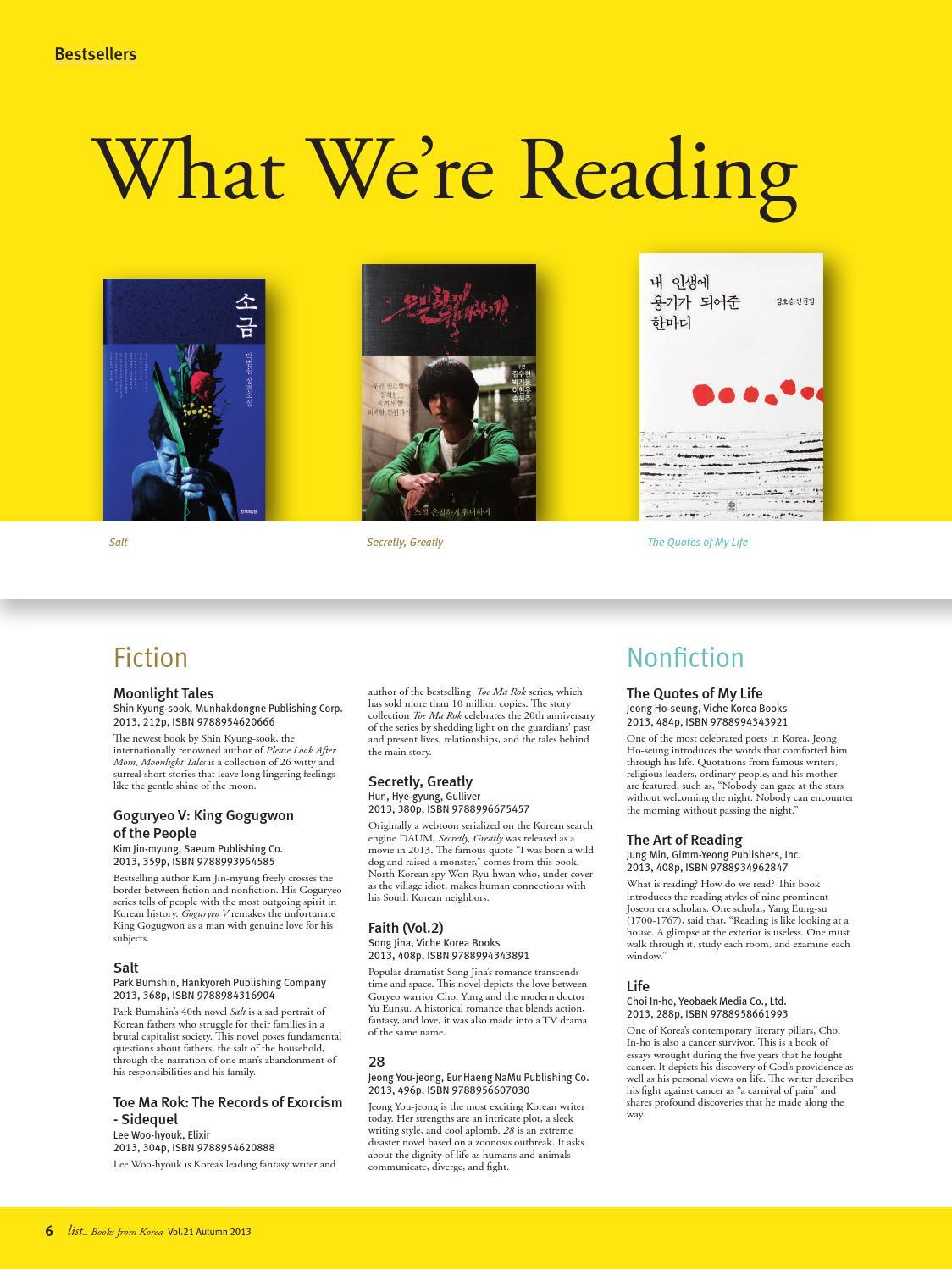 list: Books from Korea] Vol 21 Autumn 2013 by LTI Korea