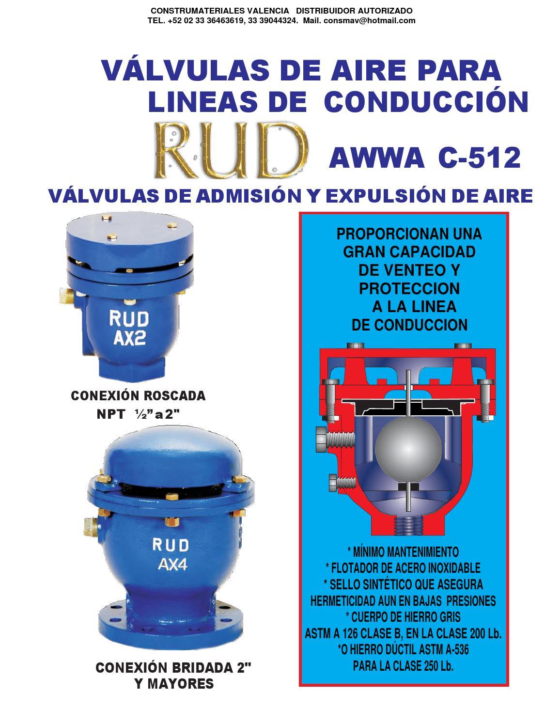 Valvula de admision y expulsion de aire