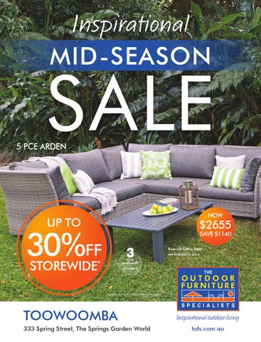 The Outdoor Furniture Specialists   Geelong. Summer Inspirations Catalogue.  Mid Season Sale   Toowoomba Part 28