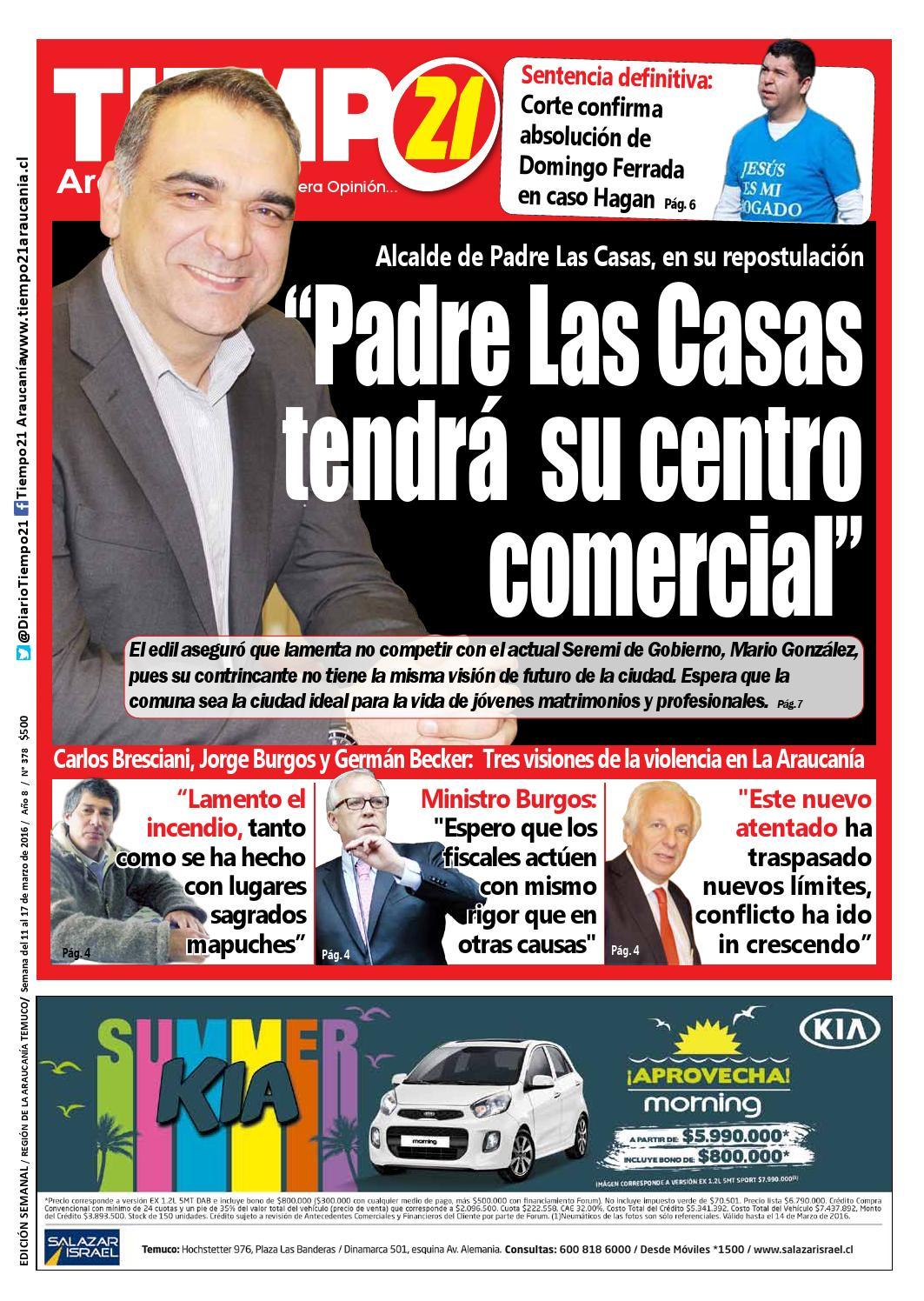 Edici N 378 Alcalde Juan Eduardo Delgado Padre Las Casas Tendr
