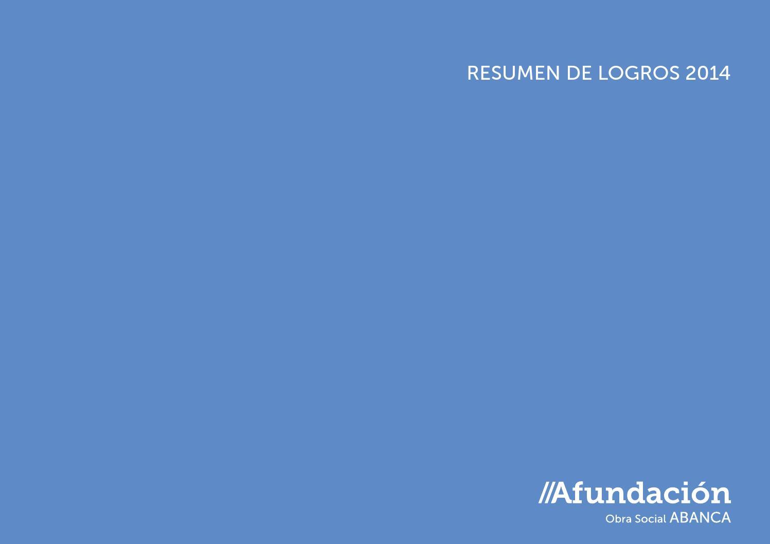 Resumen de logros 2014 by Afundación - issuu