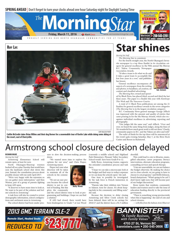 vernon morning star march 11 2016 by black press issuu