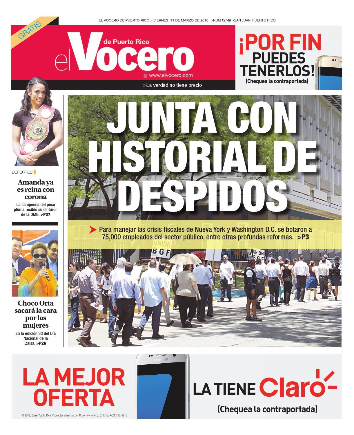 Edición 11 de Marzo 2016 by El Vocero de Puerto Rico - issuu 13da7db19