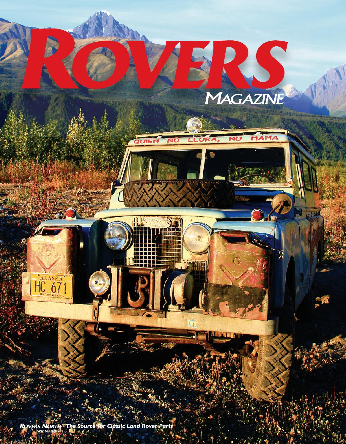 Rovers Magazine Winter 2016 By North Issuu Rover 25 Tailgate Wiring Diagram
