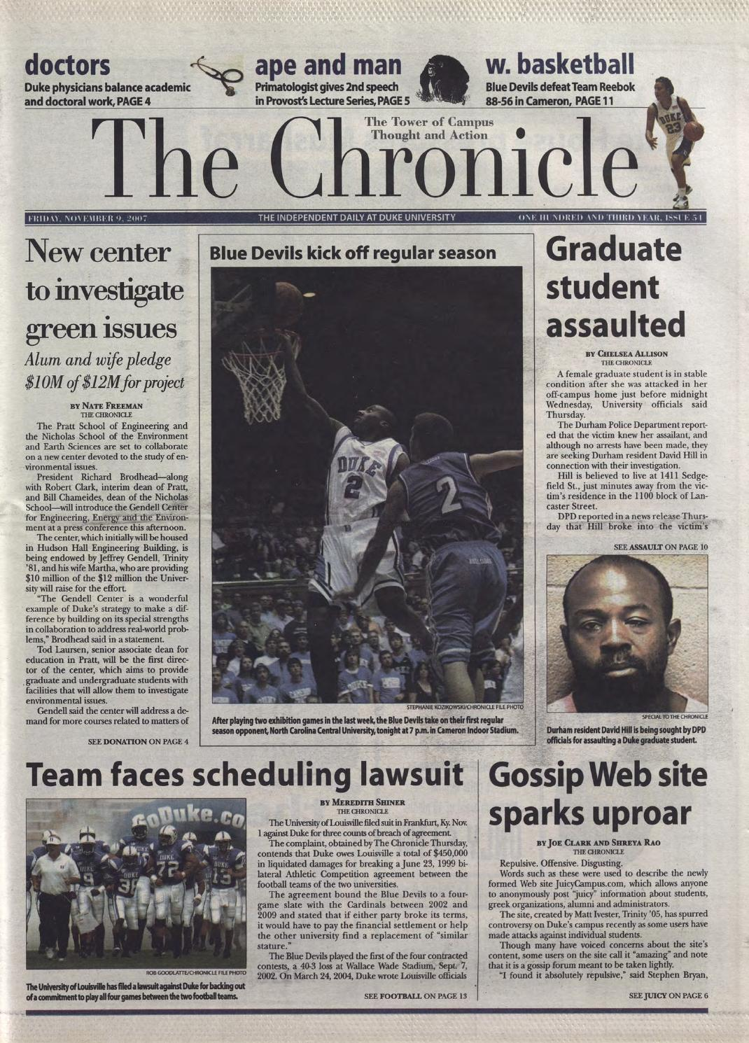 November 9, 2007 by Duke Chronicle Print Archives - issuu