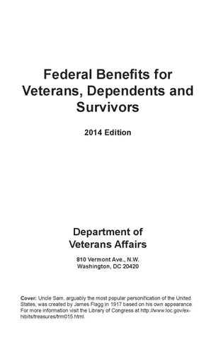 2016 Benefits for Veterans, Dependents and Survivors handbook by ...