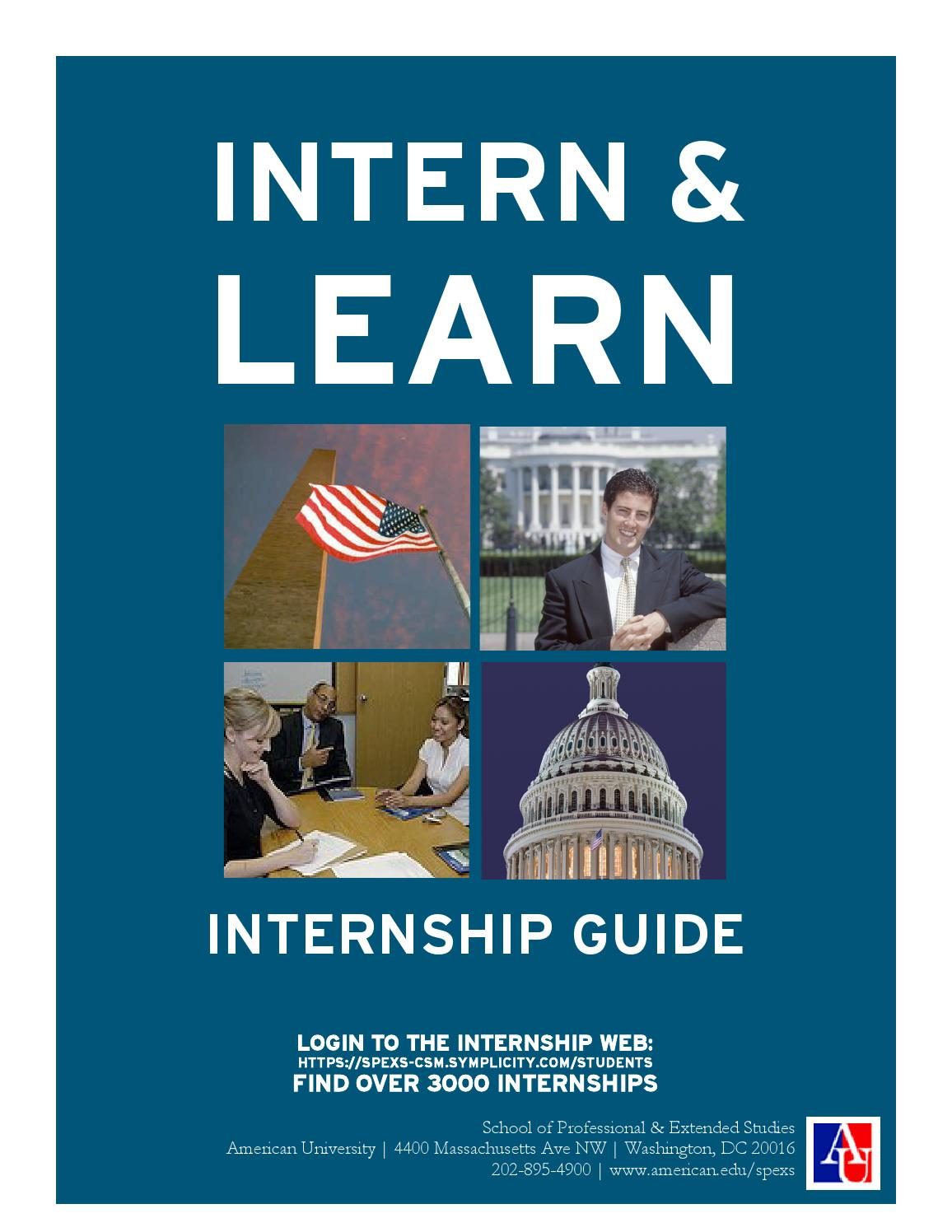 intern  u0026 learn by american university spexs