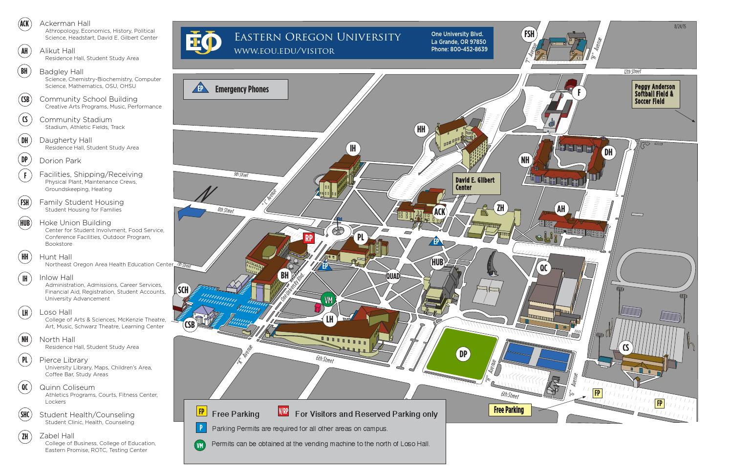 eastern oregon university campus map Eou Campus Map By Le Bailey Issuu eastern oregon university campus map