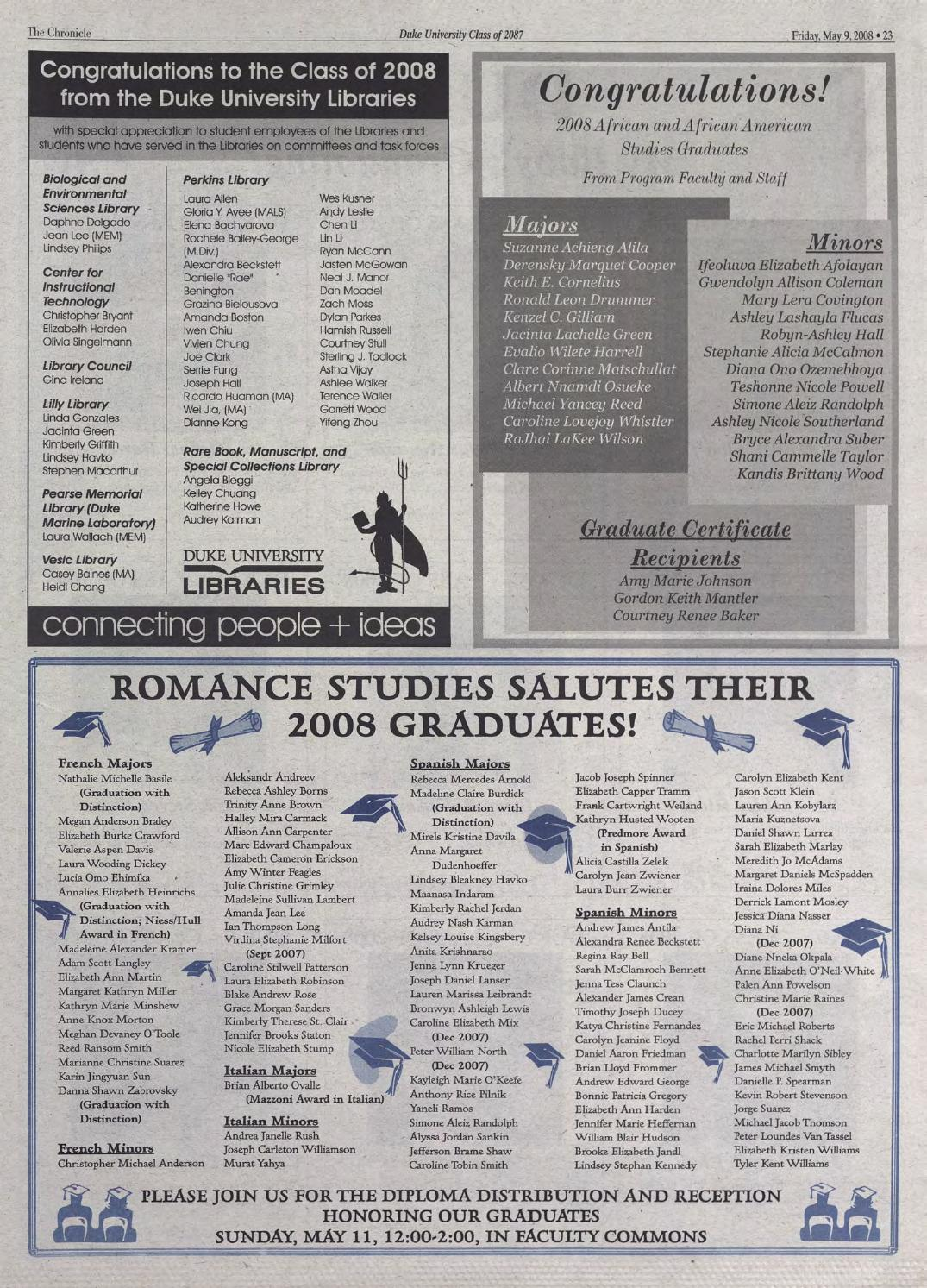 May 9, 2008 by Duke Chronicle Print Archives - issuu