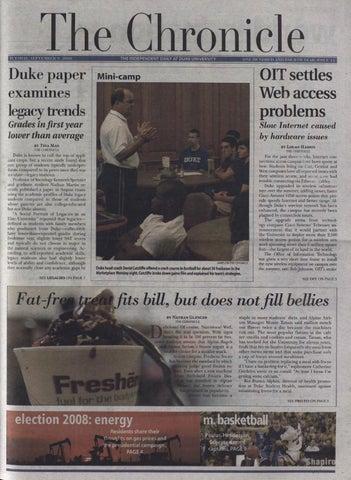 September 9, 2008 by Duke Chronicle Print Archives - issuu