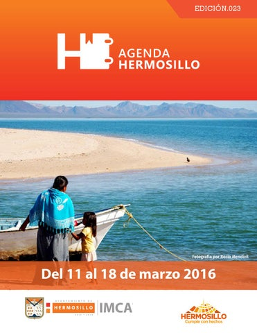 "Cover of ""Agenda Hermosillo del 11 al 18 de marzo"""