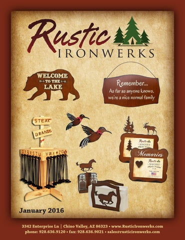 Rustic Ironwerks 2016 Catalog By Traditions Unlimited Issuu