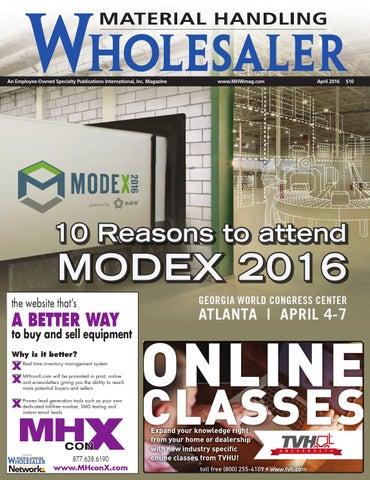 Material handling wholesaler april 2016 by material handling page 1 fandeluxe Choice Image