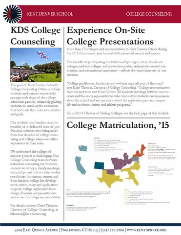 College Counseling at Kent Denver School by Kent Denver