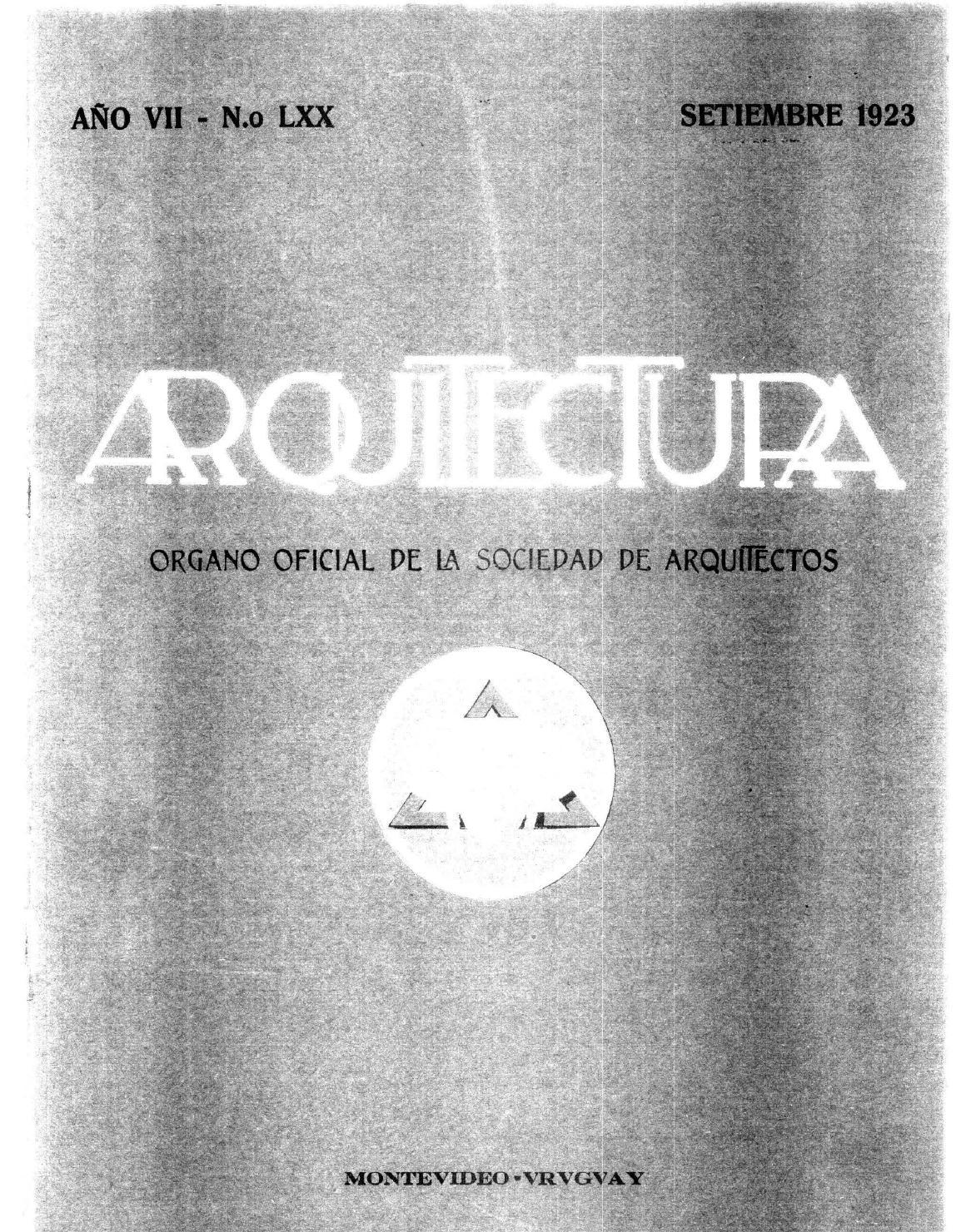 Arquitectura 70 1923 By Sociedad De Arquitectos Del Uruguay Sau  # Mateo Muebles Cutral Co