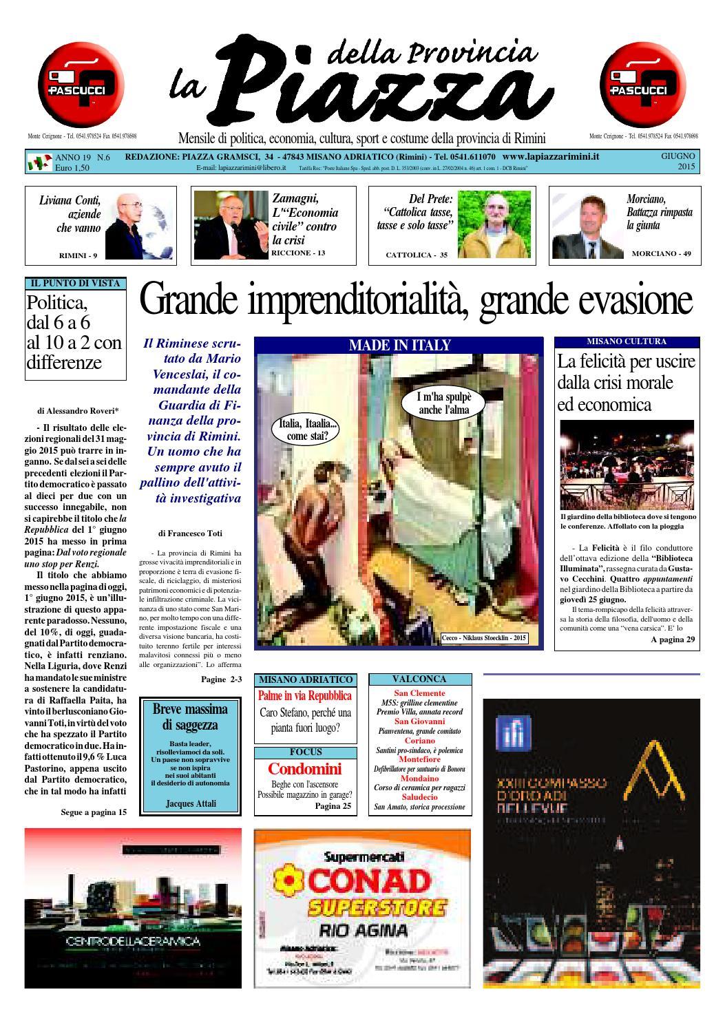 Giugno 2015 - La Piazza Rimini by La Piazza della Provincia - issuu 016cb8ff70e9