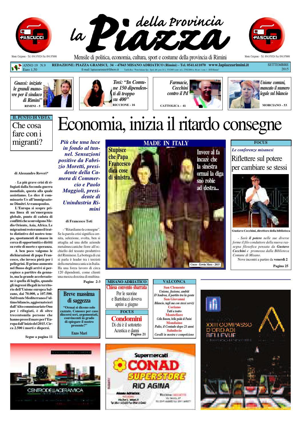 Settembre 2015 - La Piazza Rimini by La Piazza della Provincia - issuu 24c4f96d224