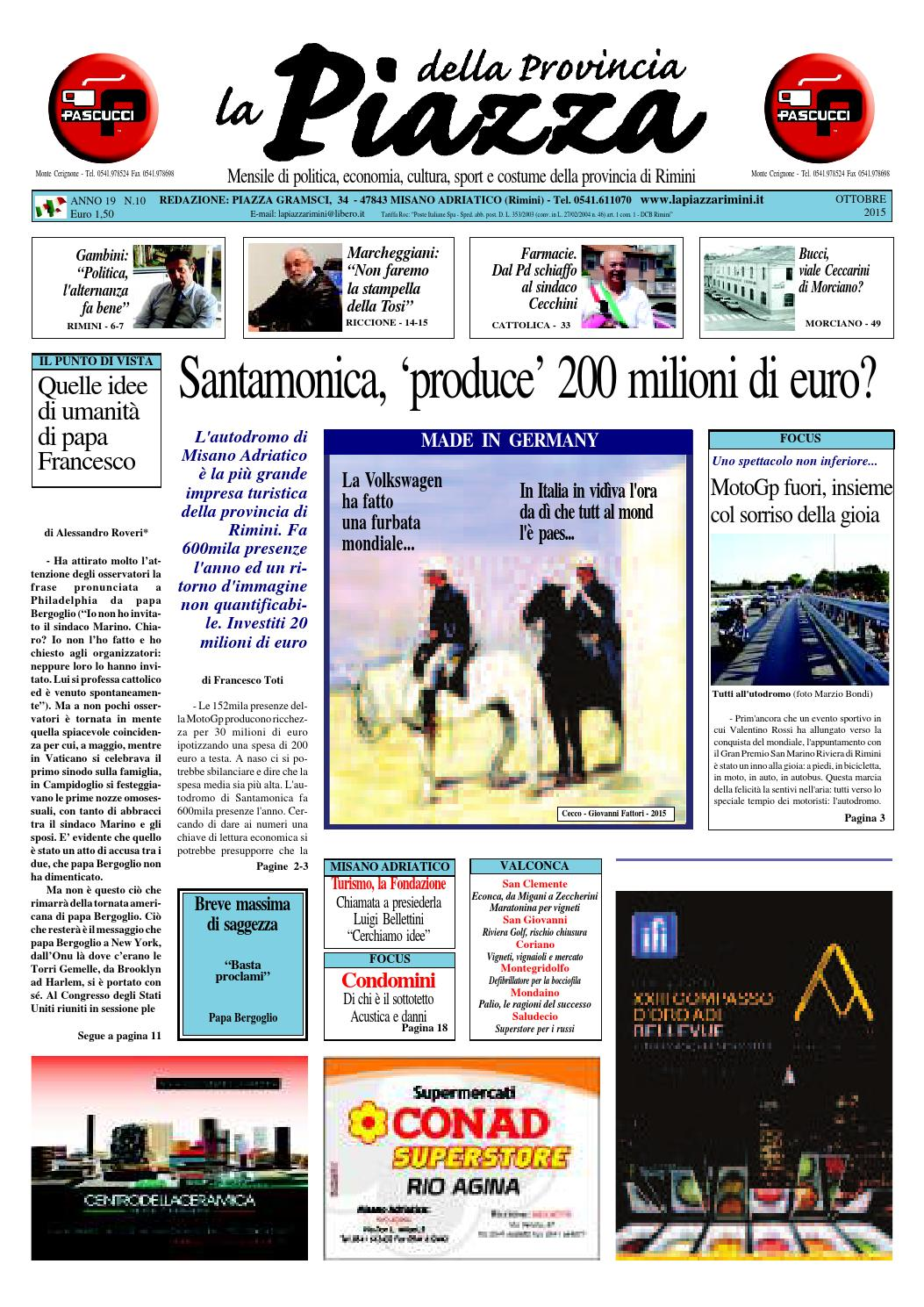 Ottobre 2015 - La Piazza Rimini by La Piazza della Provincia - issuu 27b2bf250c5