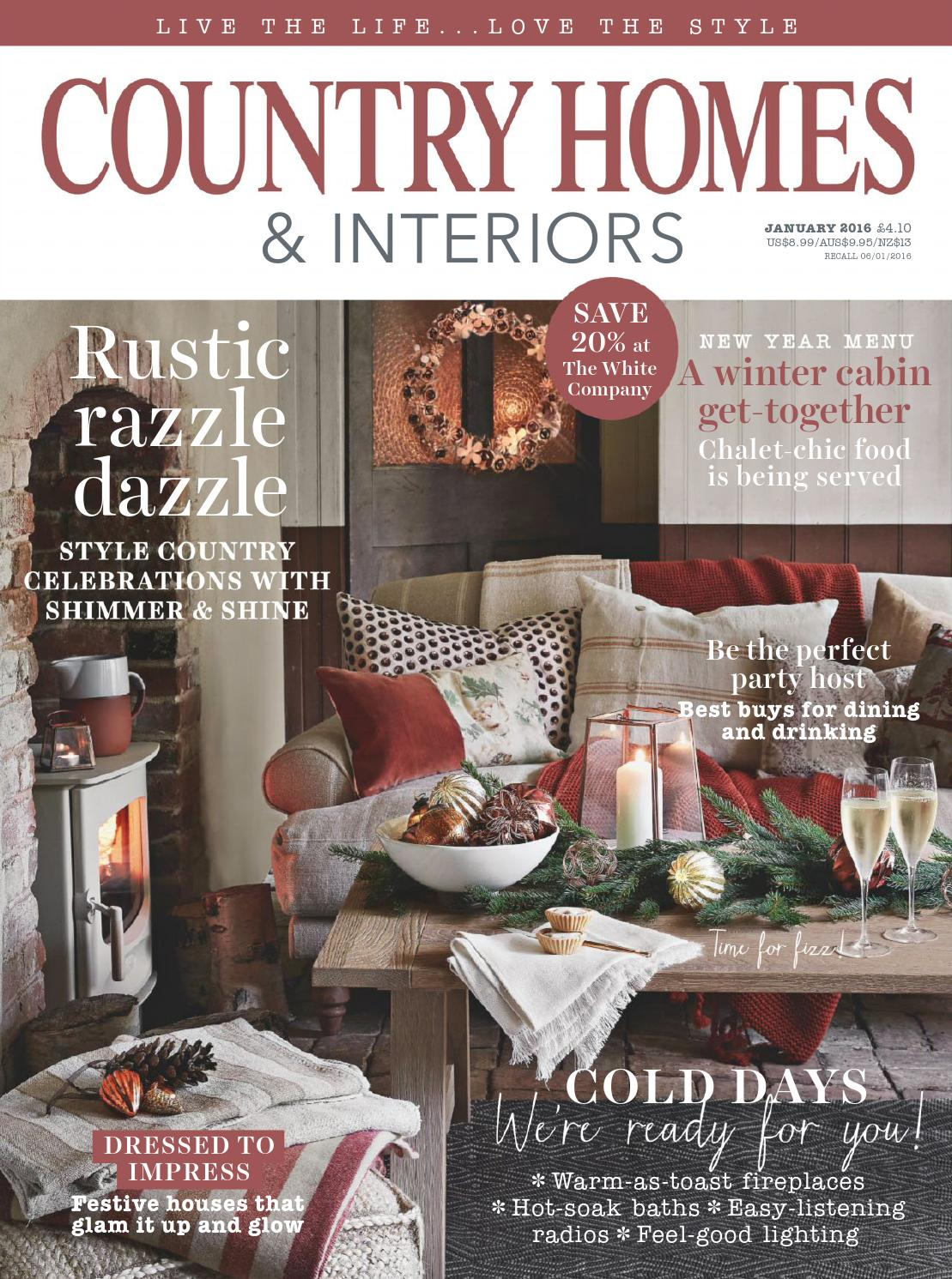 Country Homes Interiors January 2016