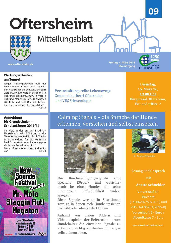 2016-09 Mitteilungsblatt - Gemeinde Oftersheim by Gemeinde ...