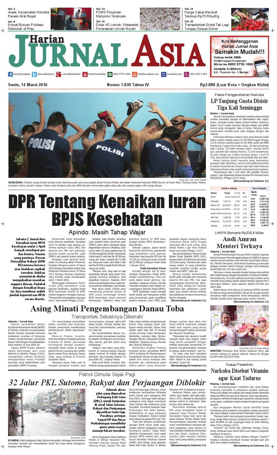 Harian Jurnal Asia Edisi Senin 14 Maret 2016 By Produk Ukm Bumn Rasa Dewa Sari Buah Mbing 250ml Jus Free Ongkir Depok Ampamp Jakarta Medan Issuu