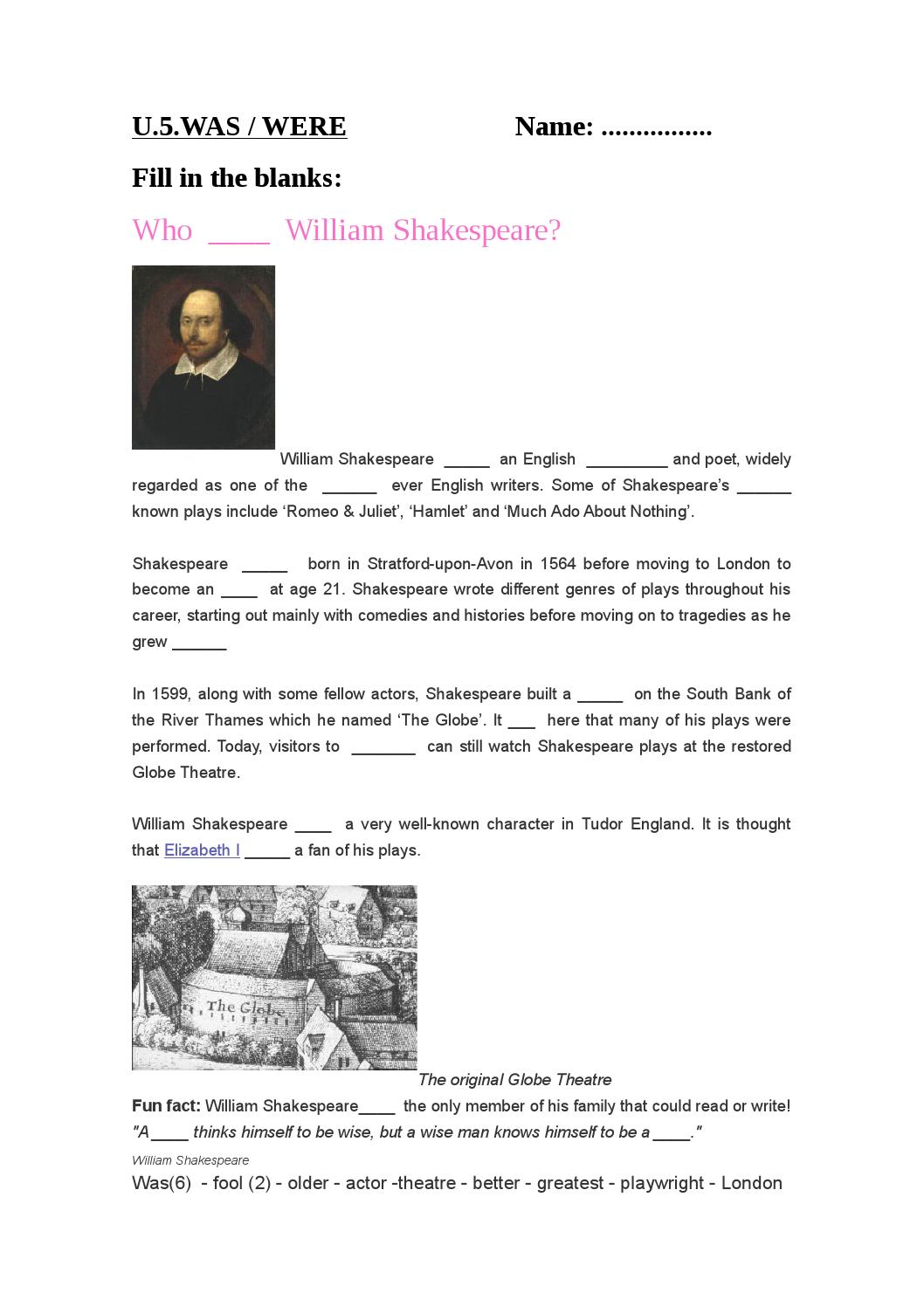 shakespeare play genres