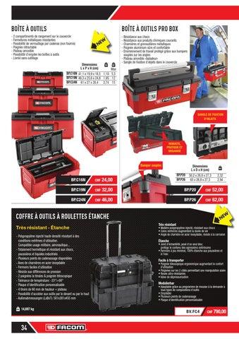 boîte à outils polypropylène compartiments amovible 45,5 x 24 x 14 cm Boîte à outils