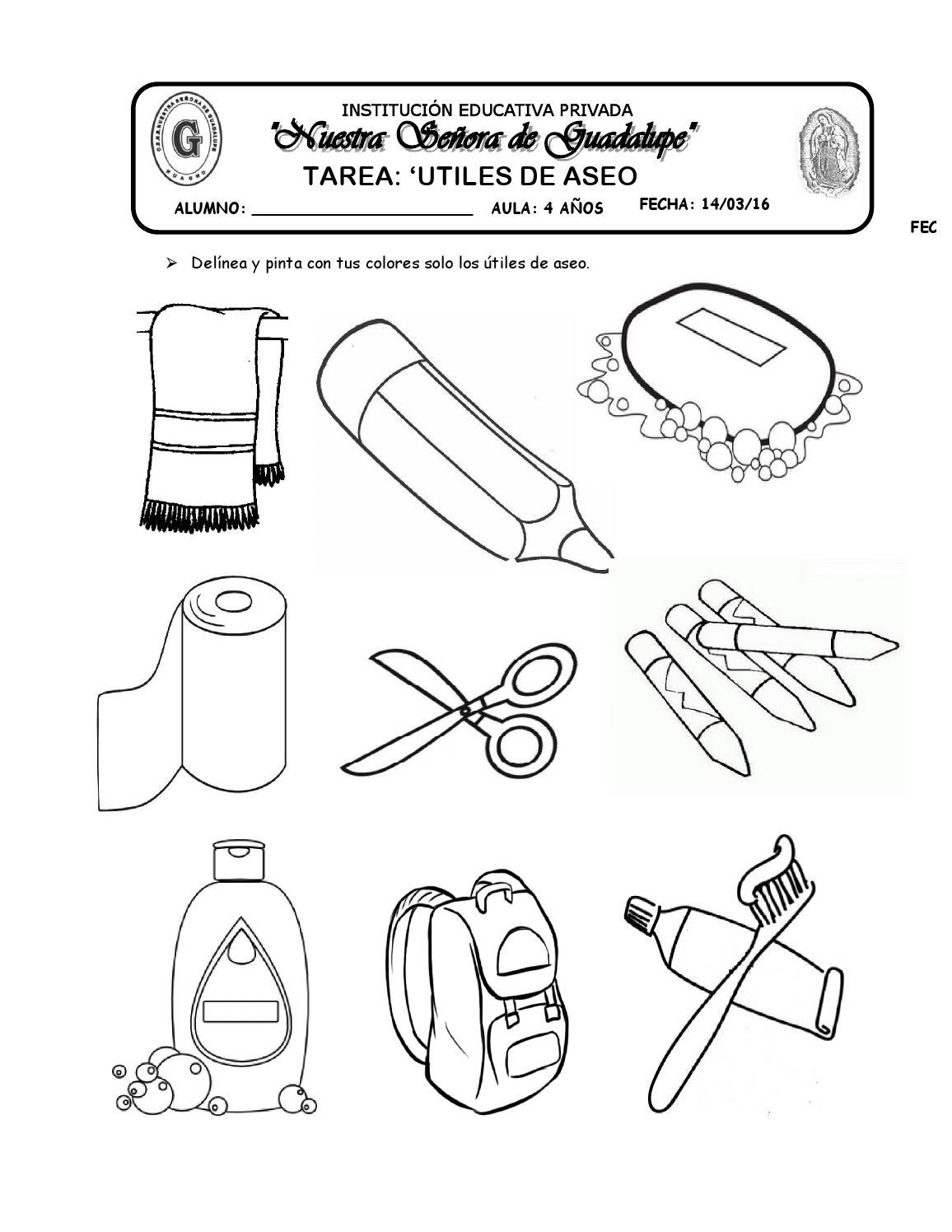 Tarea utiles de aseo by katy hormiguita issuu for Imagenes de utiles de aseo