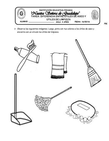Tarea diferencia entre tiles de aseo y limpieza by katy for Imagenes de utiles de aseo