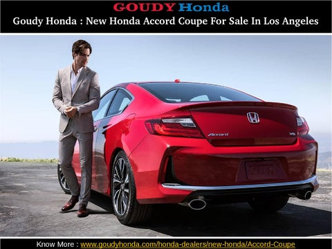 Honda Coupe For Sale >> Goudy Honda 2016 Honda Accord Coupe For Sale In Los