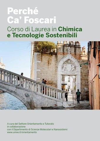 Ca Foscari Calendario Esami.Perche Ca Foscari Corso Di Laurea In Chimica E Tecnologie