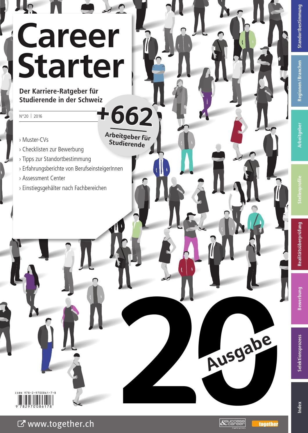 Career Starter - Nr. 20 - Deutsche Ausgabe - 2016 by together ag - issuu