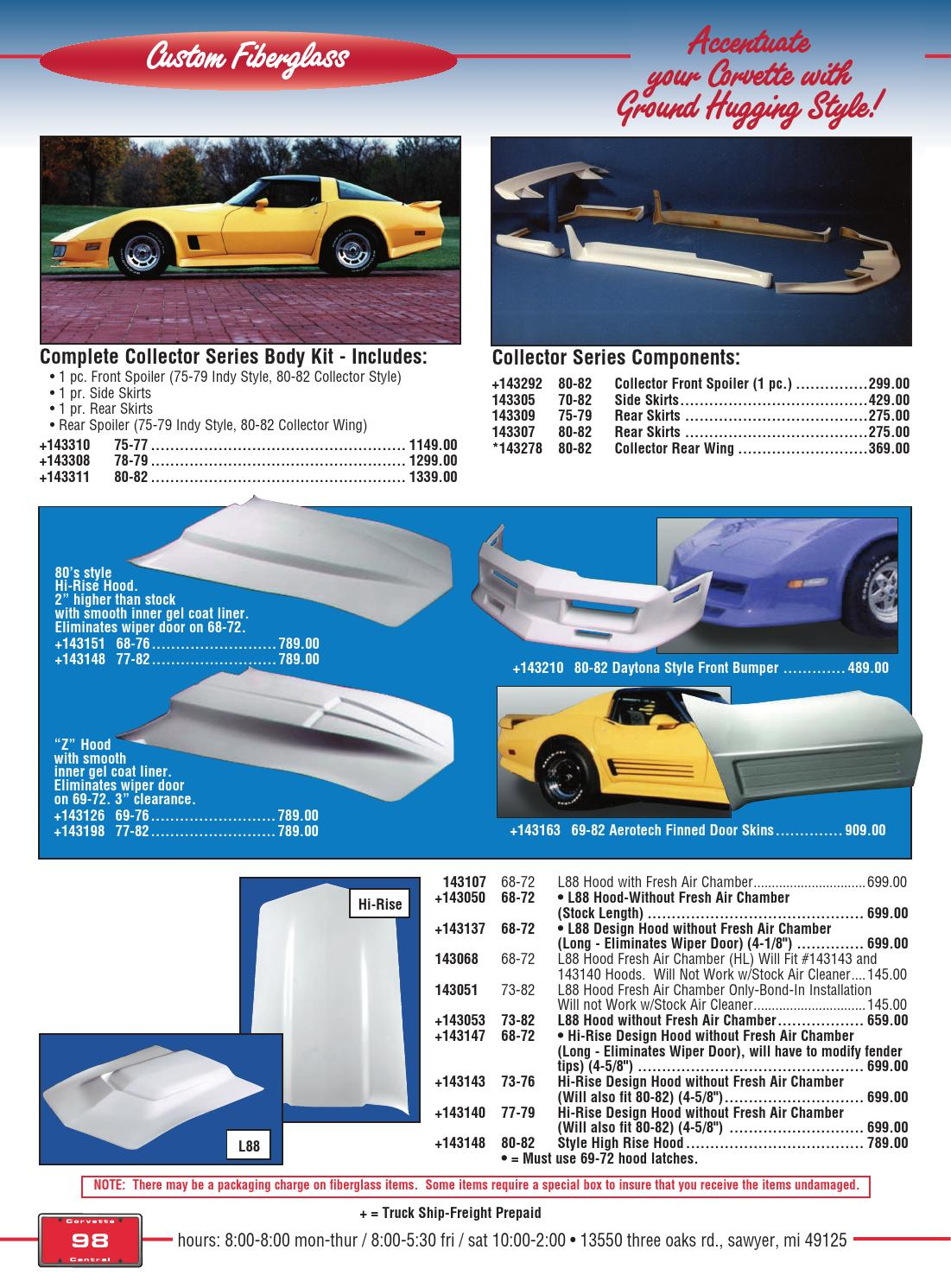 77 c3 corvette parts catalog/manual