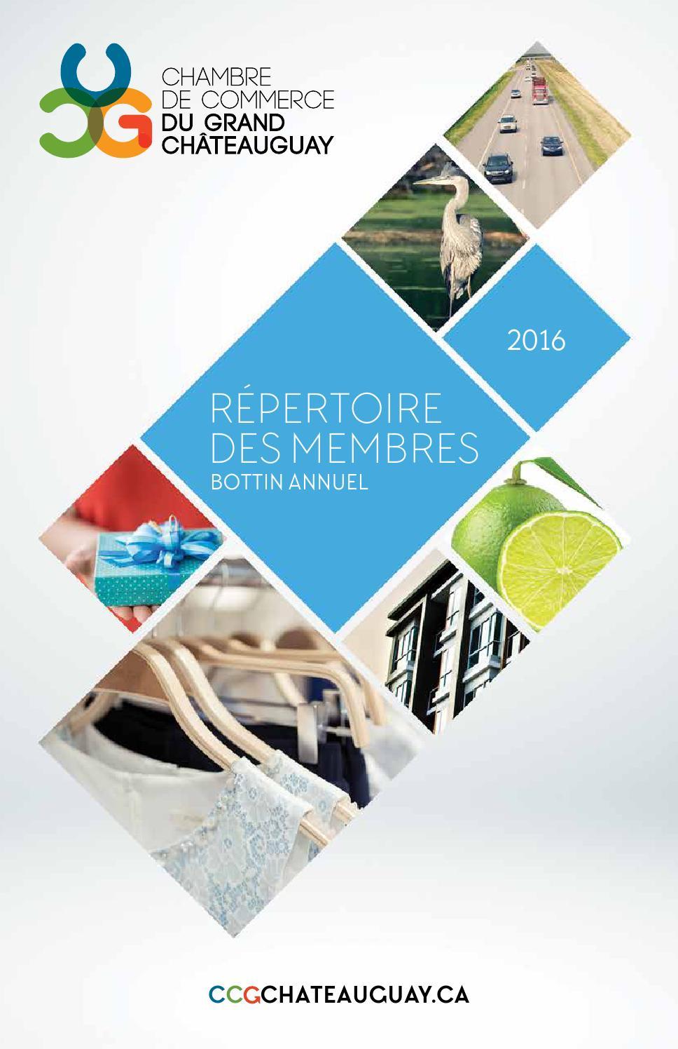 R pertoire des membres 2016 by chambre de commerce du for Chambre de commerce du quebec