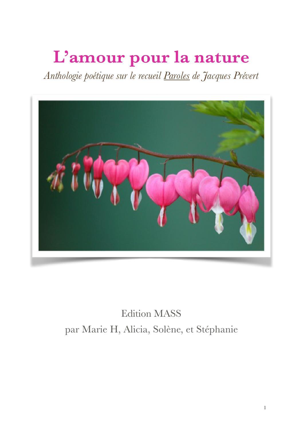Lamour Pour La Nature By Classe De 212 Issuu