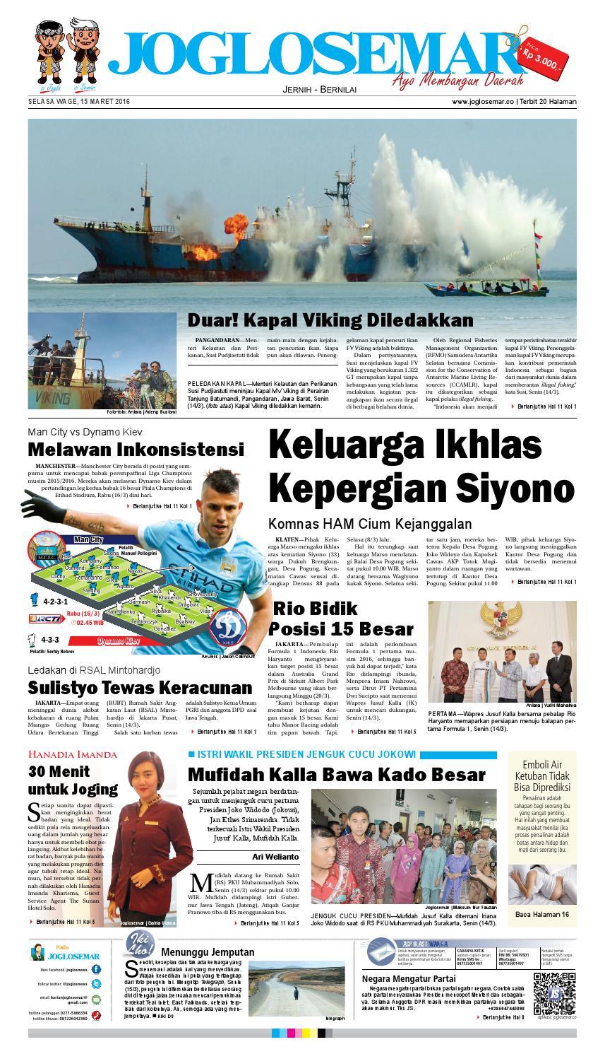 E Paper 15 Maret 2016 By PT Joglosemar Prima Media Issuu