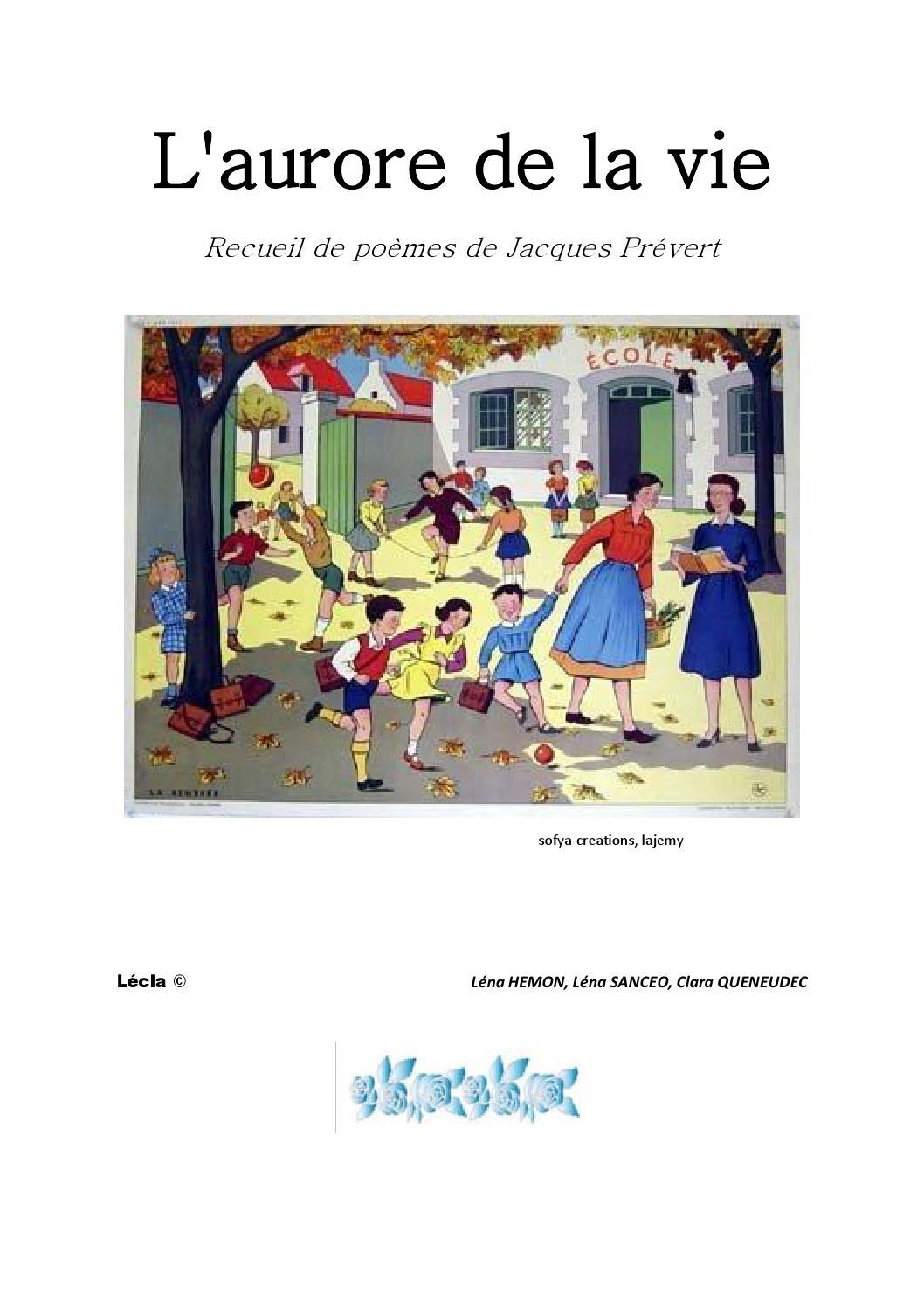 Laurore De La Vie By Classe De 212 Issuu