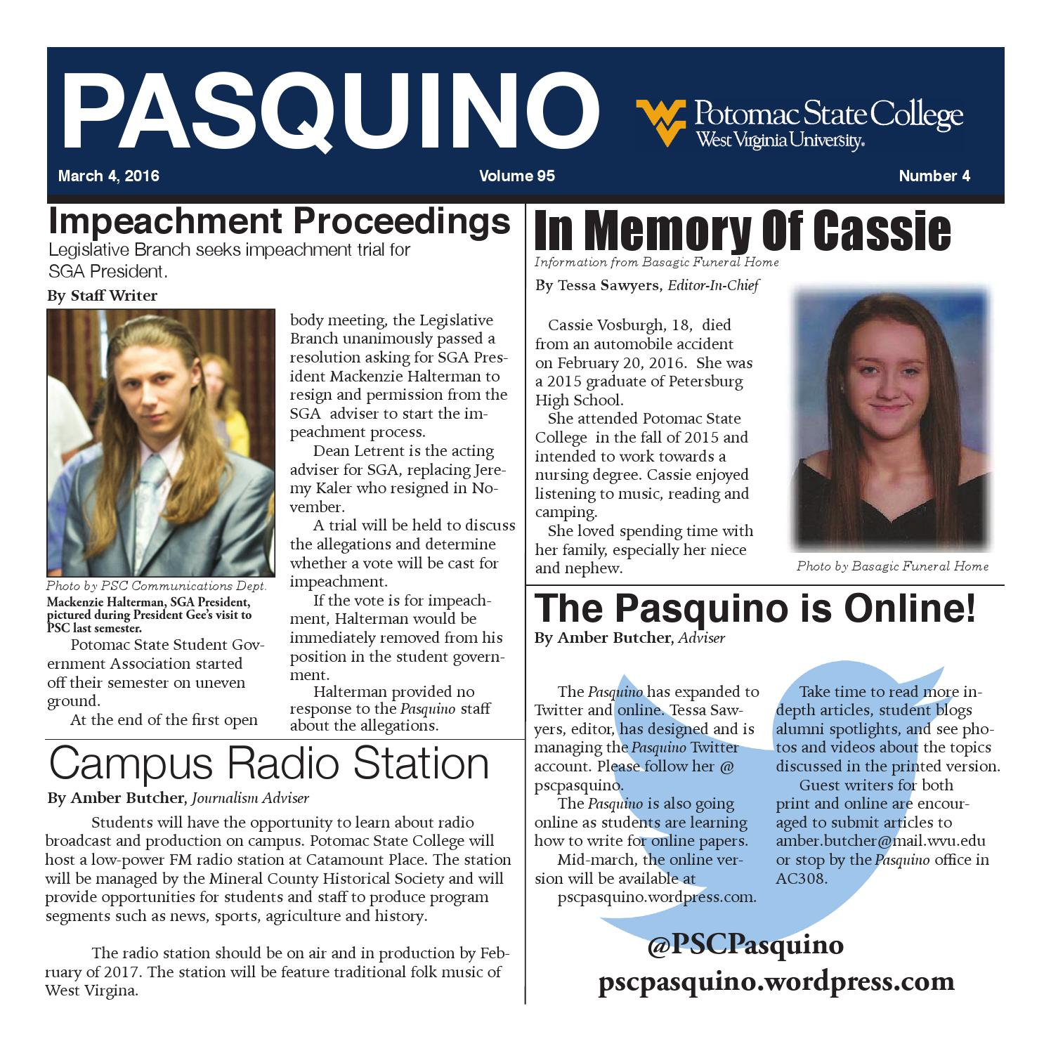 The Pasquino March 4 2016 By Don Schafer Issuu