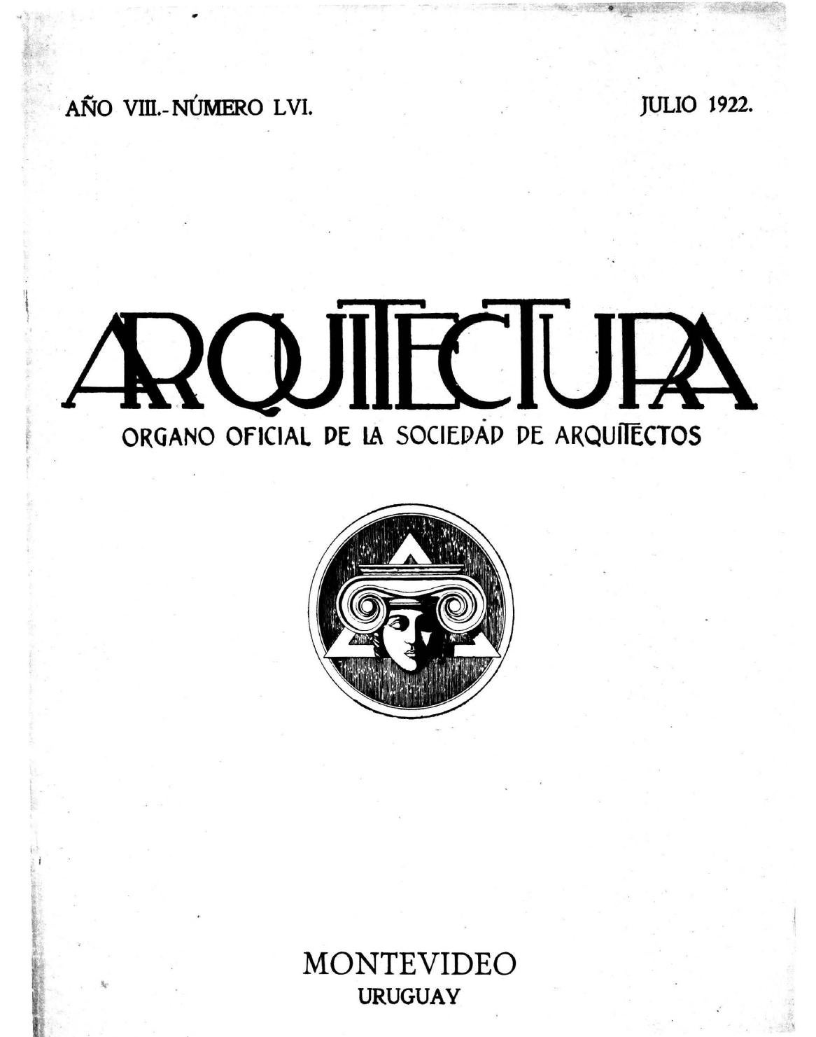 Arquitectura 56 1922 By Sociedad De Arquitectos Del Uruguay Sau  # Gufanti Muebles