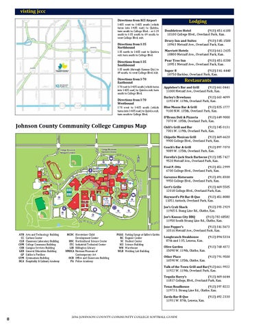 Johnson County Community College Campus Map.2016 Jccc Softball Guide By Chris Gray Issuu