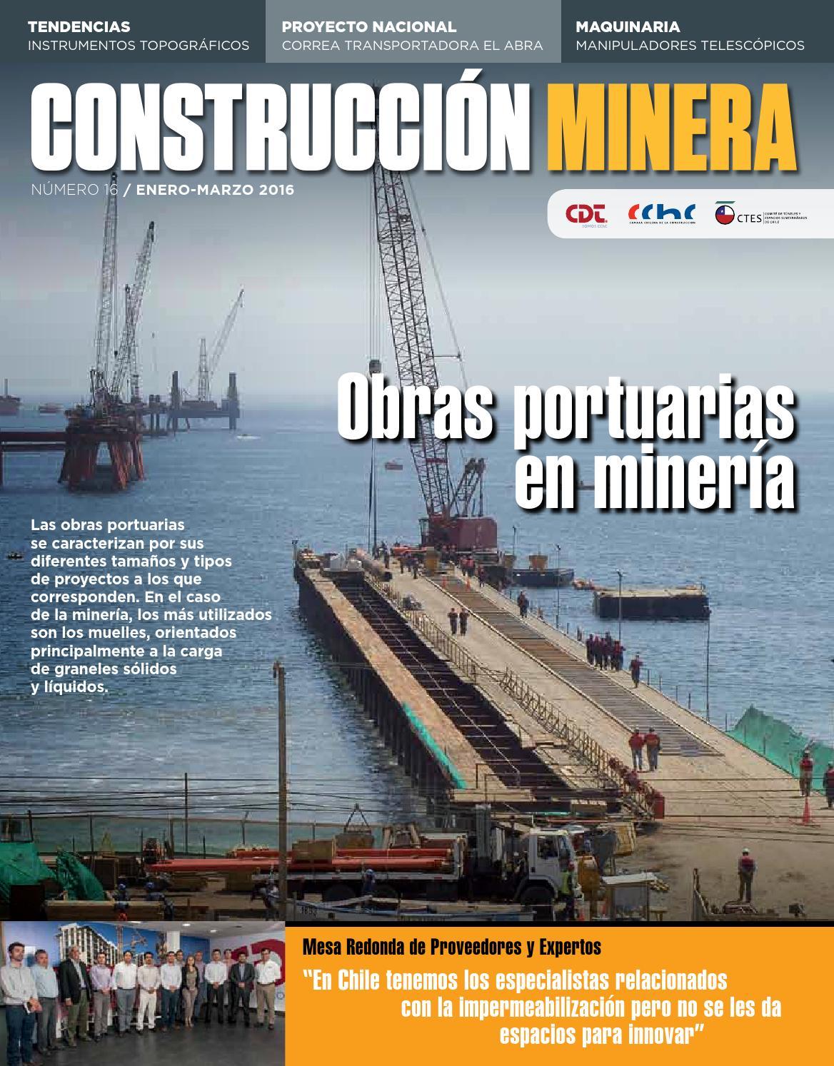 Construcción By Obras Minería 16 Nº En Issuu Minera Revista Portuarias RZ0P4wqX