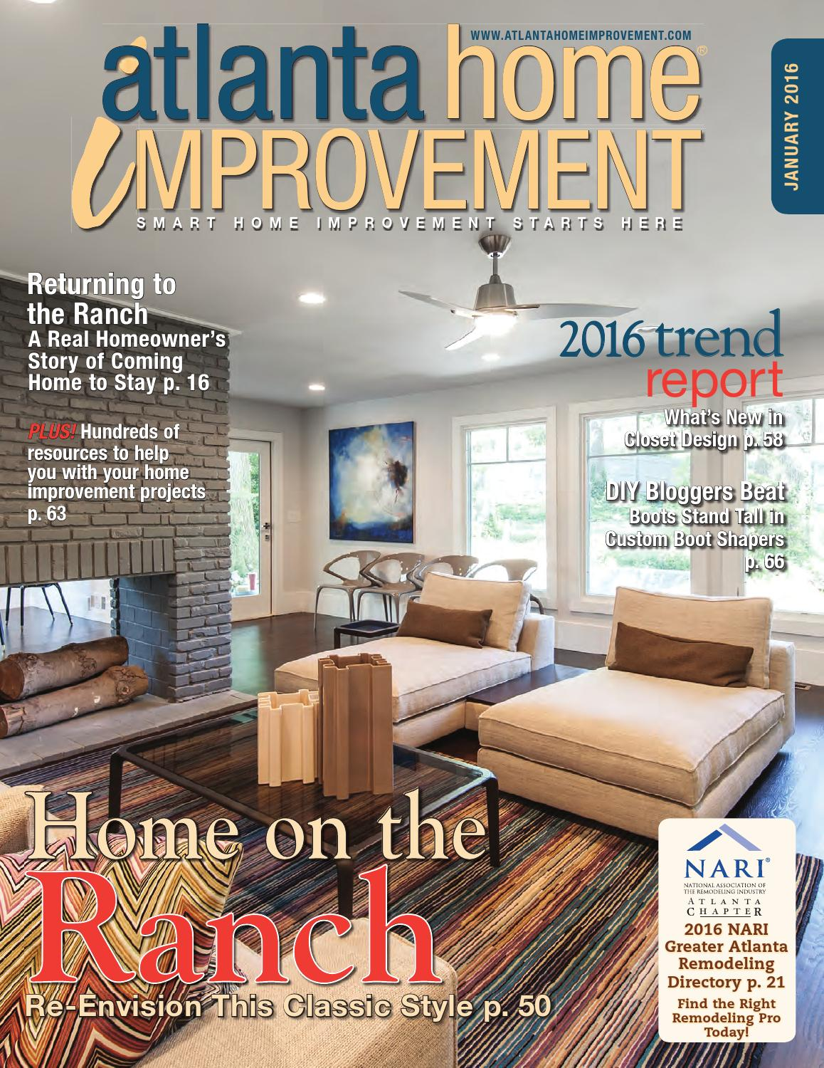 major home remodel atlanta home remodeling cost verses value glazer construction Atlanta home improvement 0116 by My Home Improvement Magazine - issuu